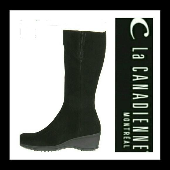 La canadienne boots la canadienne francesca ankle black suede boot VKKKISL