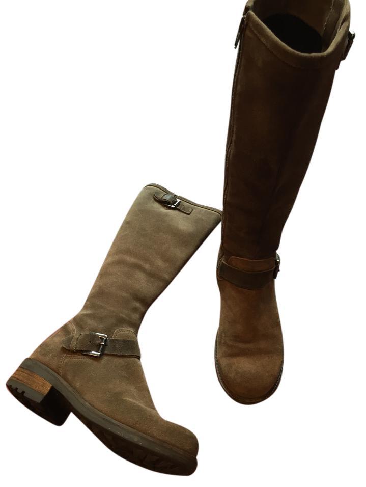 La canadienne boots la canadienne suede riding buckle brown boots ... FRQVYNI