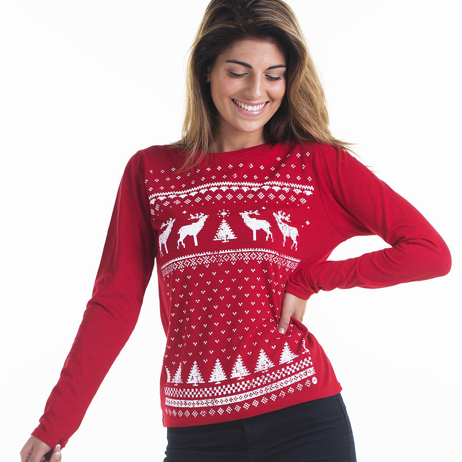 How to wear the right ladies Christmas jumpers