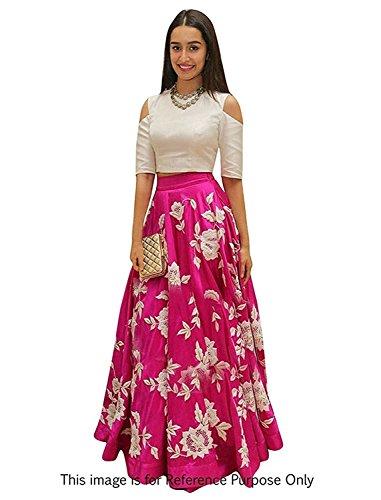 ladies dress lady loop womenu0027s pink semi stitched dress gown (jne-lllh-arohipink) LNJXMZM