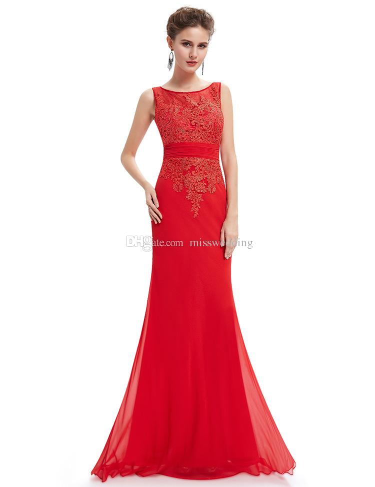 ladies dress new fashion red chiffon ladies long dress evening brand banquet designer  party gown with HGSTIIJ