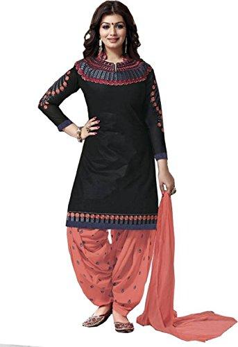 ladies dress omsai fashion womenu0027s cotton anarkali dress material  (ritmo-original-imaekdbrazy_black_free size) VDDXEMJ