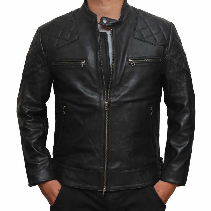 Leather Jackets ... david beckham black leather jacket UYJLIYK
