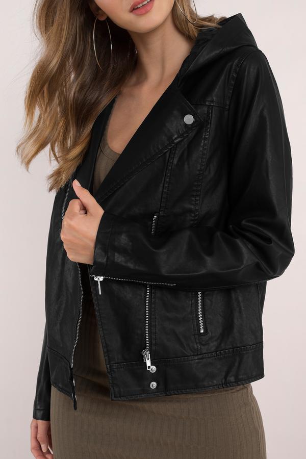 Leather Jackets kayliegh black moto jacket kayliegh black moto jacket ... WRLDXEG