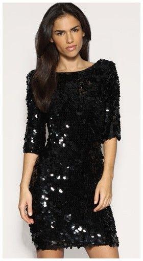 Little black sequin shorts all over sequin dress : black dress mini dress sexy dress sequin dress FLESRRL