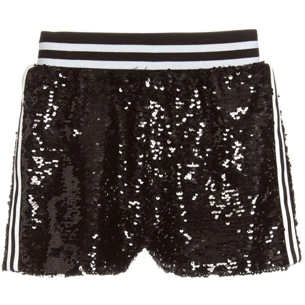 Little black sequin shorts fun u0026 fun girls black sequin shorts | little lily u0026 co YDJYAGL
