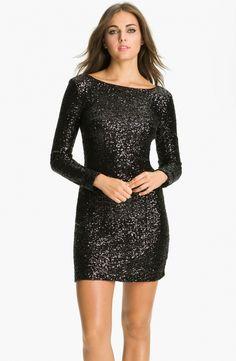 Little black sequin shorts long sleeve sequin sheath dress from picsity.com VPJTQDU