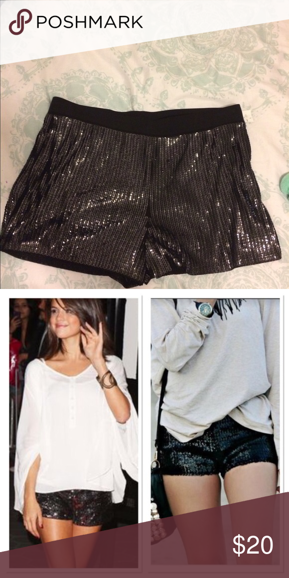 Little black sequin shorts nwt express sequin shorts black sequin shorts are sure to dress up any  outfit! WDSMHLK