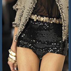 Little black sequin shorts ooooo la la!! QZAIYPH