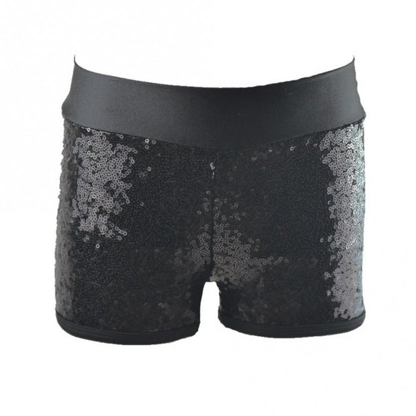 Little black sequin shorts reflectionz little girls black sequin shorts 4-6 YYEBHCW