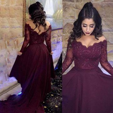long sleeved prom dresses 49%off a-line v-neck long sleeves prom dresses 2018 lace - lolipromdress.com BFROXIS
