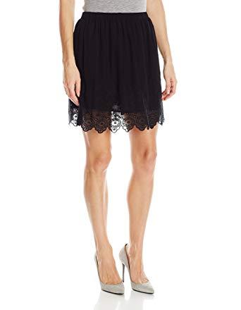 lucky brand womenu0027s black lace skirt at amazon womenu0027s clothing store: CIQEFZM