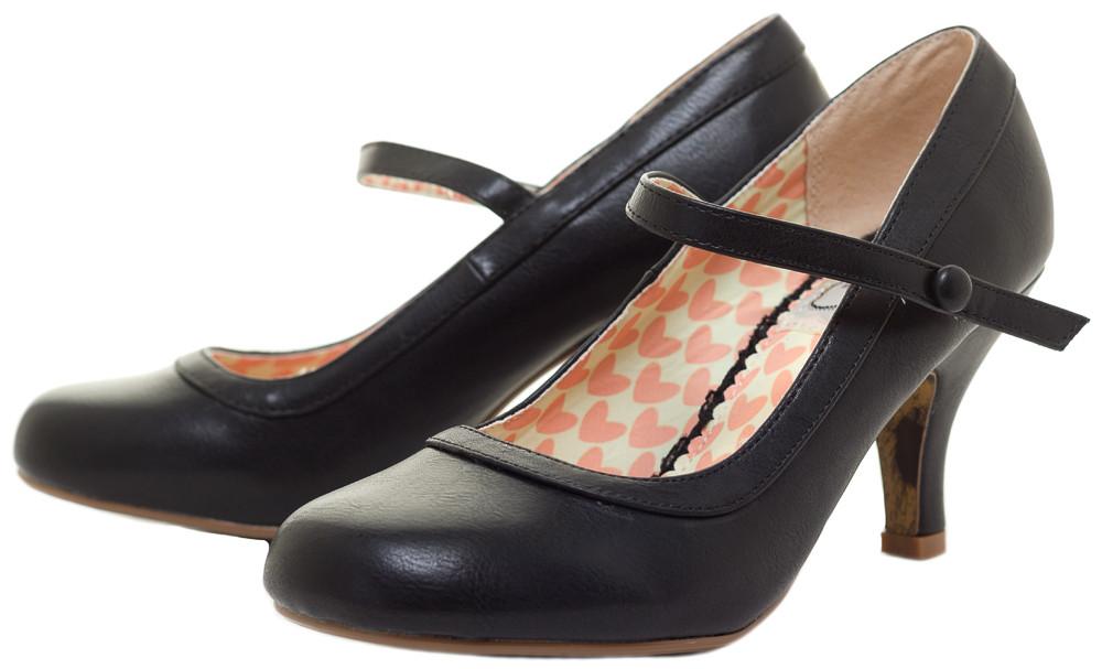 Mary Jane pumps ... bettie page bettie retro mary jane heels blk ... JEWNHIL