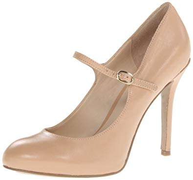 Mary Jane pumps nine west womenu0027s msknoitall mary jane pump,natural leather,10 ... OQWNGAR