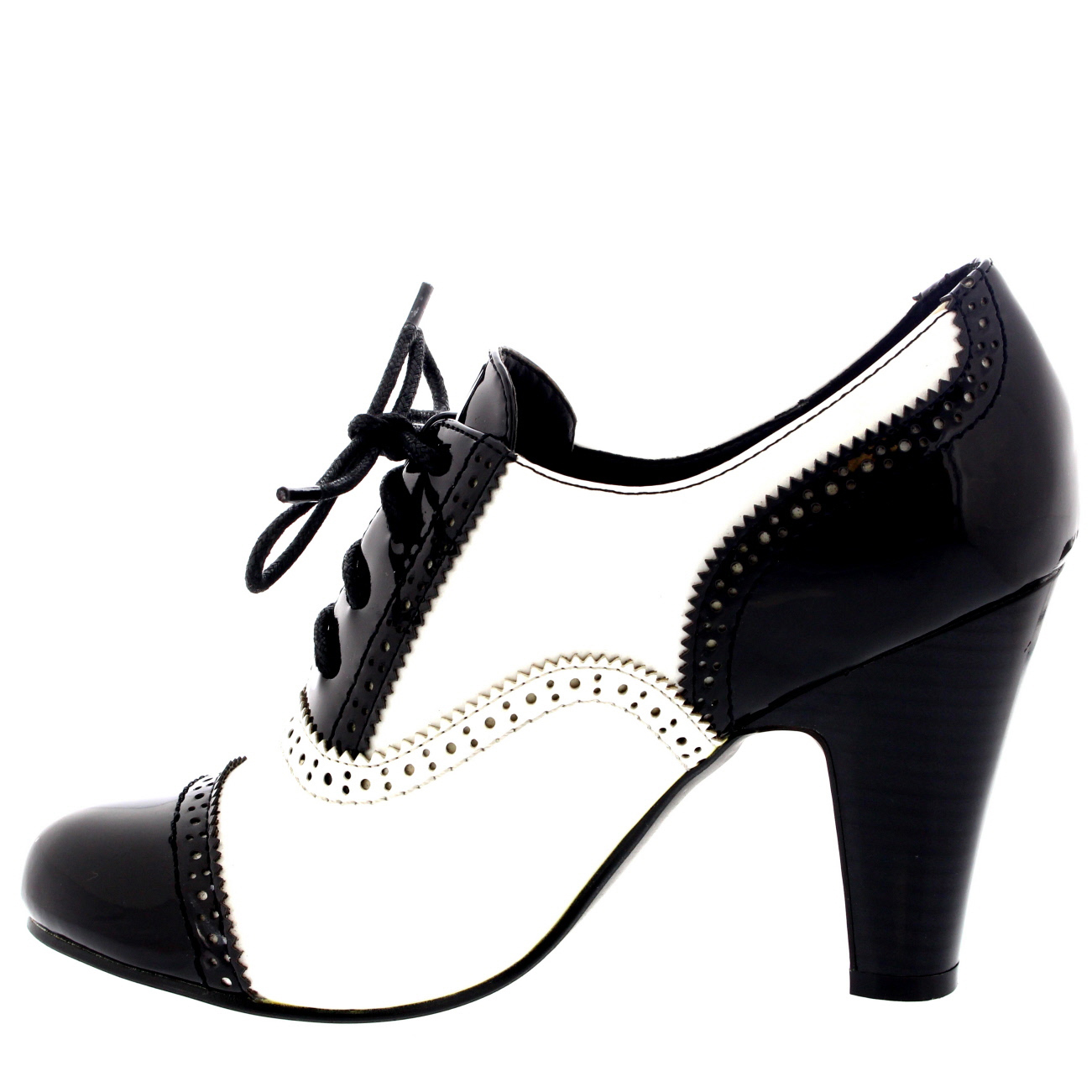 Mary Jane pumps womens-mid-block-heel-lace-up-evening-work- VIMZMYA