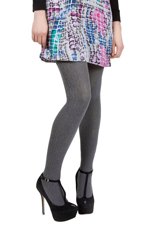 memoi side cable sweater tights OXDRCCY