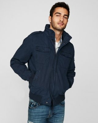 Men Jacket cargo bomber jacket | express OWKONQZ