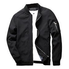 Men Jacket new men zipper casual work jacket fight bomber coat thin spring fashion  baseball CYOQVAI