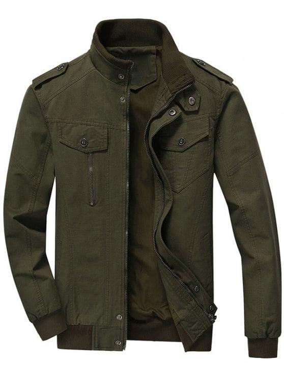Men Jacket online zip up jacket men clothes - army green l HGINXMG