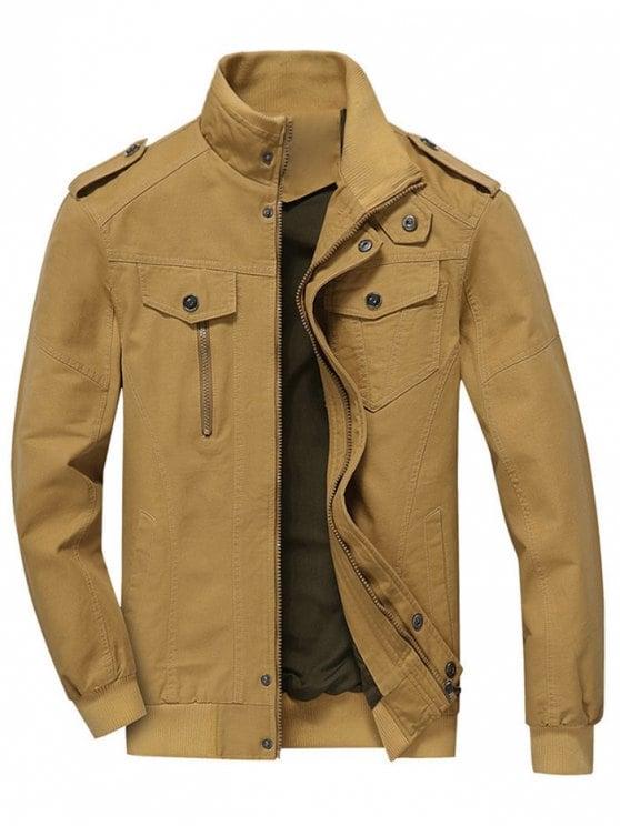 Men Jacket shop zip up jacket men clothes - khaki 3xl IHNXTYQ