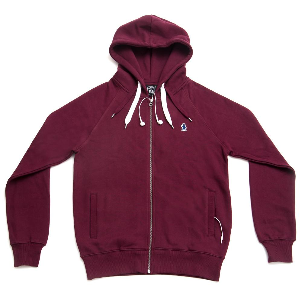 menu0027s atlas organic cotton burgundy hoodie ZCQUADR