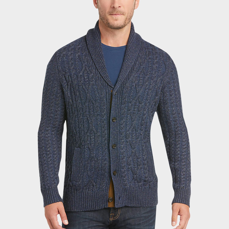 Mens cardigan mens cardigans, sweaters - joseph abboud indigo cable-knit cardigan sweater  - menu0027s wearhouse TSUUBAF