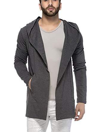 Mens cardigan tinted menu0027s cotton blend hooded cardigan (s, anthera) QHQZMFB