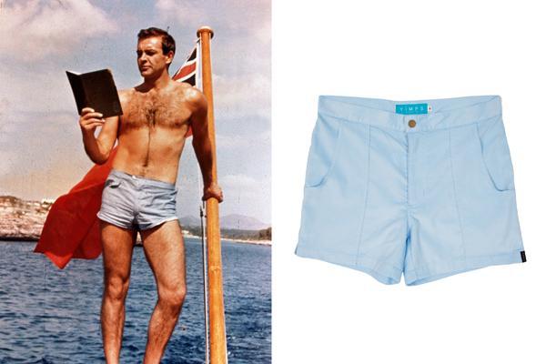 mens short shorts james bond in mens vintage/ retro beach shorts VFUCSAO