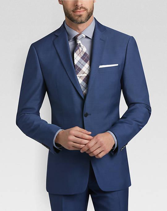mens suits calvin klein blue postman extreme slim fit suit - mens slim fit, suits - SAIOWHR