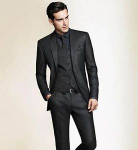 mens suits image is loading men-wedding-suits-groom-tuxedos-bridegroom-black-suits- FBHWJSN