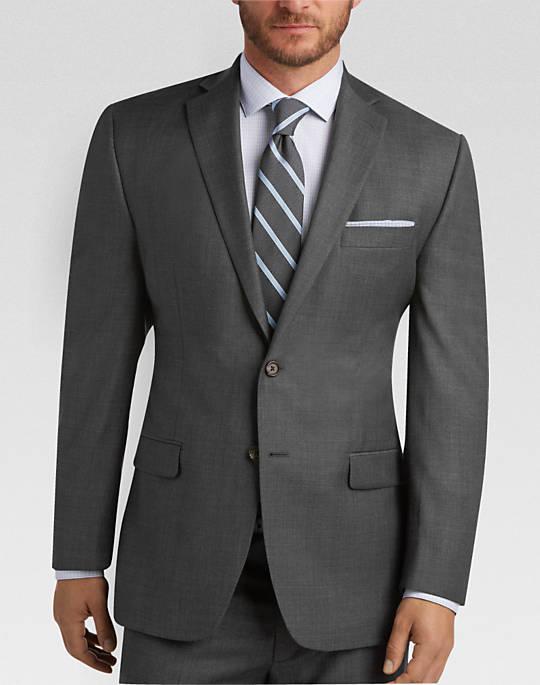 mens suits lauren by ralph lauren gray sharkskin classic fit suit - mens classic fit,  suits POTHKBO