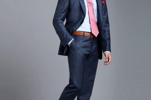 mens suits menu0027s blue big overcheck slim fit suit - super 120s wool QZLTPGF