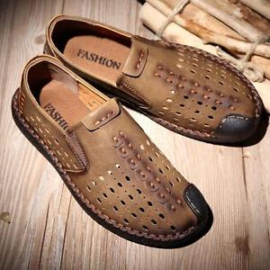 mens summer shoes image is loading chic-breathable-lace-up-loafers-casual-mens-casual- ZHFNFXM