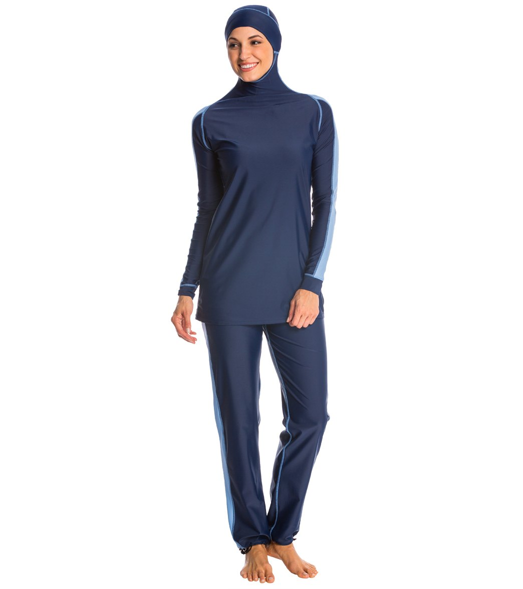 modest swimsuits alsharifa sportiva navy modest swimsuit CWIIOLY