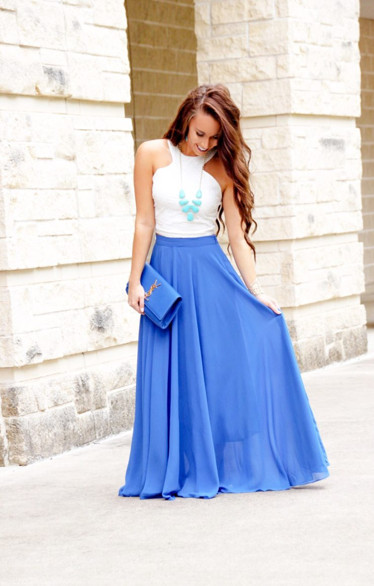 morning lavender royal blue maxi skirt - sunshine u0026 stilettos blog  (instagram: @katlynmaupin GJCISOO