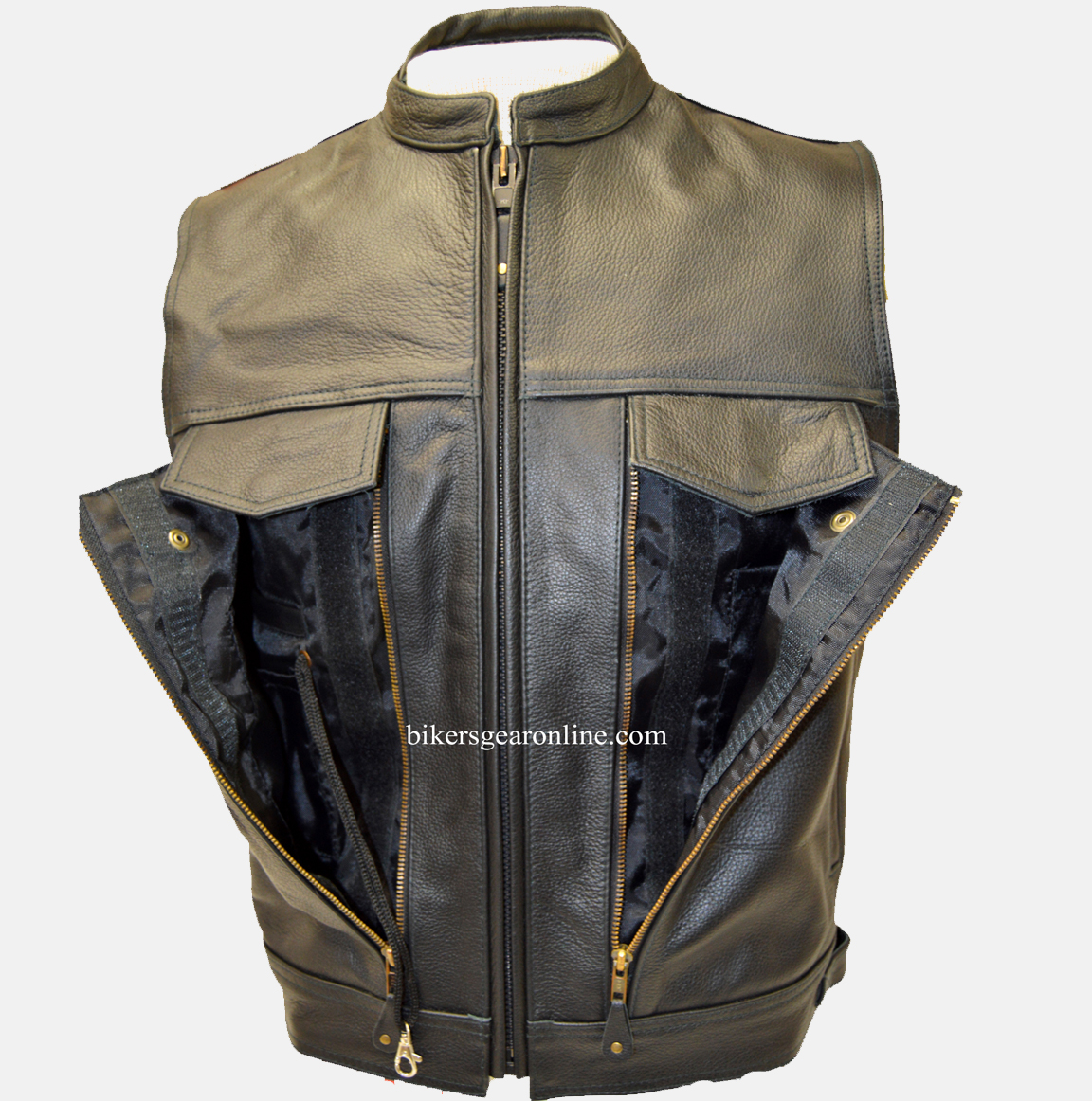 Motorcycle Vest ... motorcycle vest leather jacket mens leather vest for sale WHXPIFR