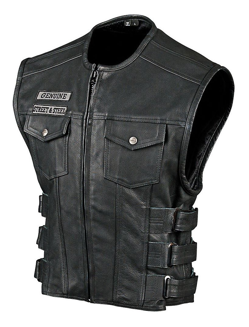 Motorcycle Vest street u0026 steel anarchy leather vest - cycle gear JYLVEYE
