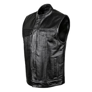 Motorcycle Vest street u0026 steel redwood leather vest DLNDIUC
