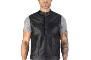 Motorcycle Vest viking cycle gardar motorcycle vest for men front side view ... GUXLMLM