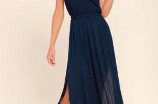 Navy Blue Dress lost in paradise navy blue maxi dress KNCOIBO