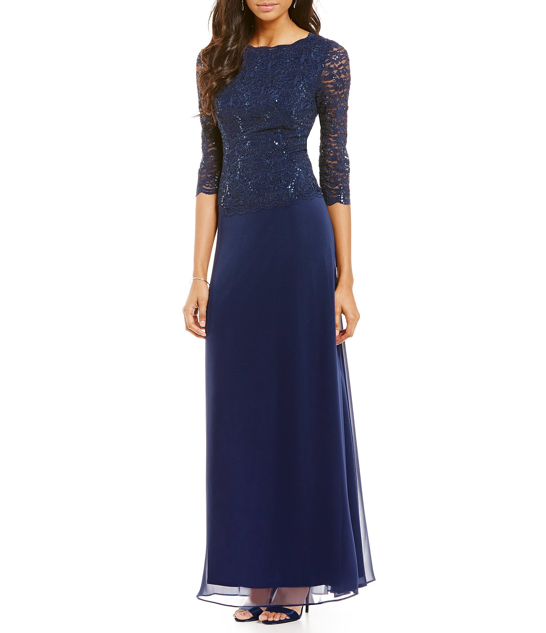 Navy Blue Dress navy blue dress: womenu0027s dresses u0026 gowns | dillards.com DCHCIJW