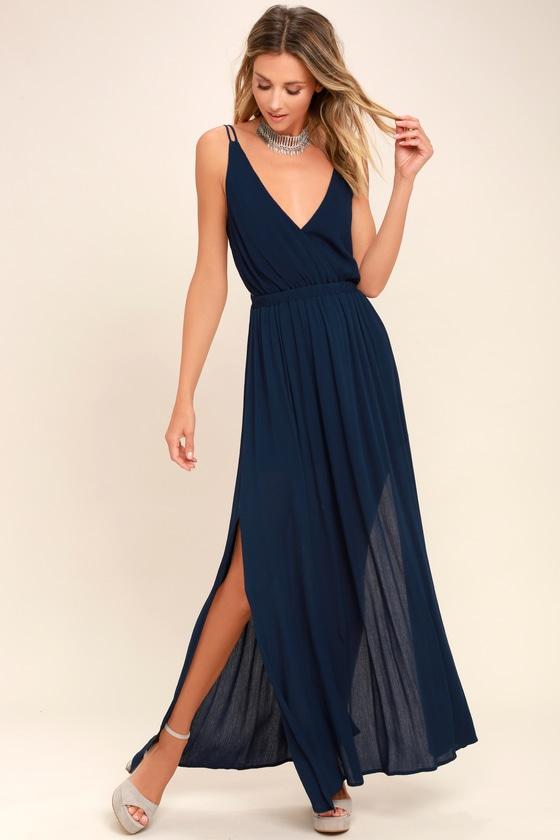 Navy Blue Maxi Dress lost in paradise navy blue maxi dress DEKAHWR