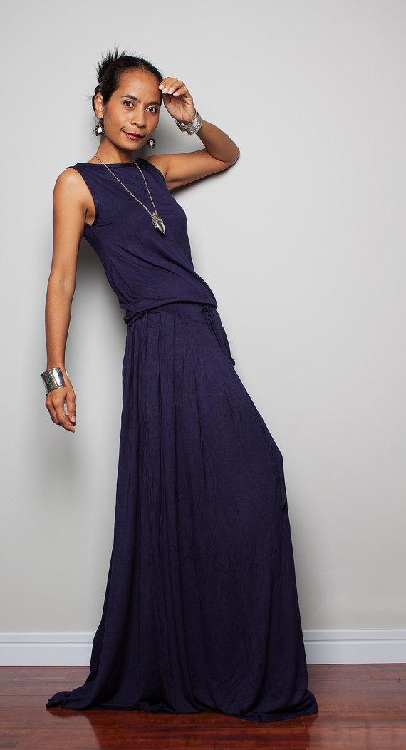 Navy Blue Maxi Dress plus size dress navy blue maxi dress sleeveless dress : AWZDPUN