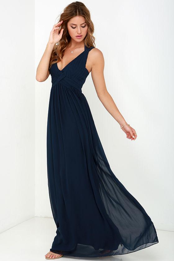 Navy Blue Maxi Dress strike a minerva navy blue maxi dress NKFZWLZ