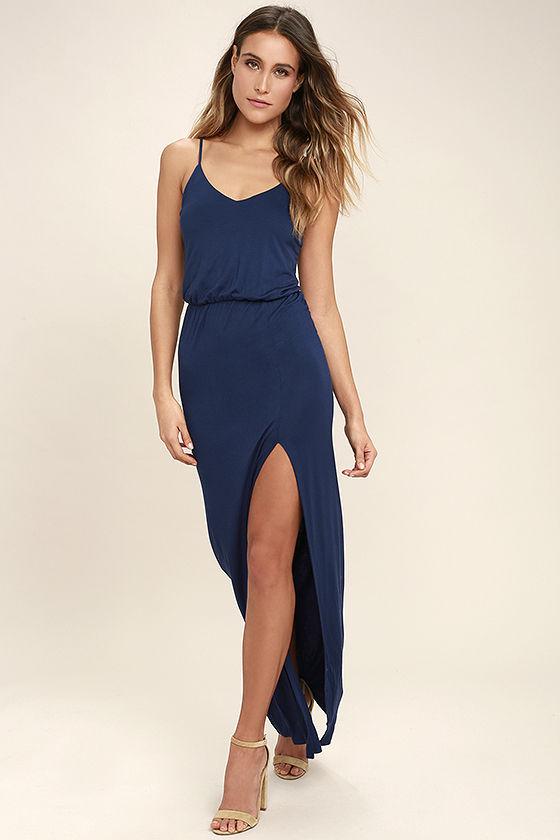Navy Blue Maxi Dress watch the sunset navy blue maxi dress OIJSQYB