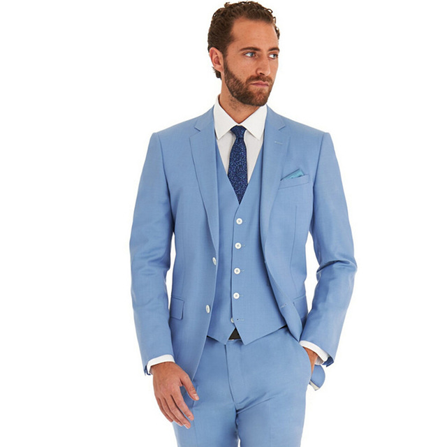 new arrivel light blue wedding manu0027s suit party dress lounge suit wedding  tuxedos new EGQWSZI