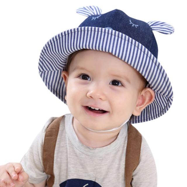 newborn boy summer hats baby sun hats little bear toddler hat beach bucket sun IJZJAYC