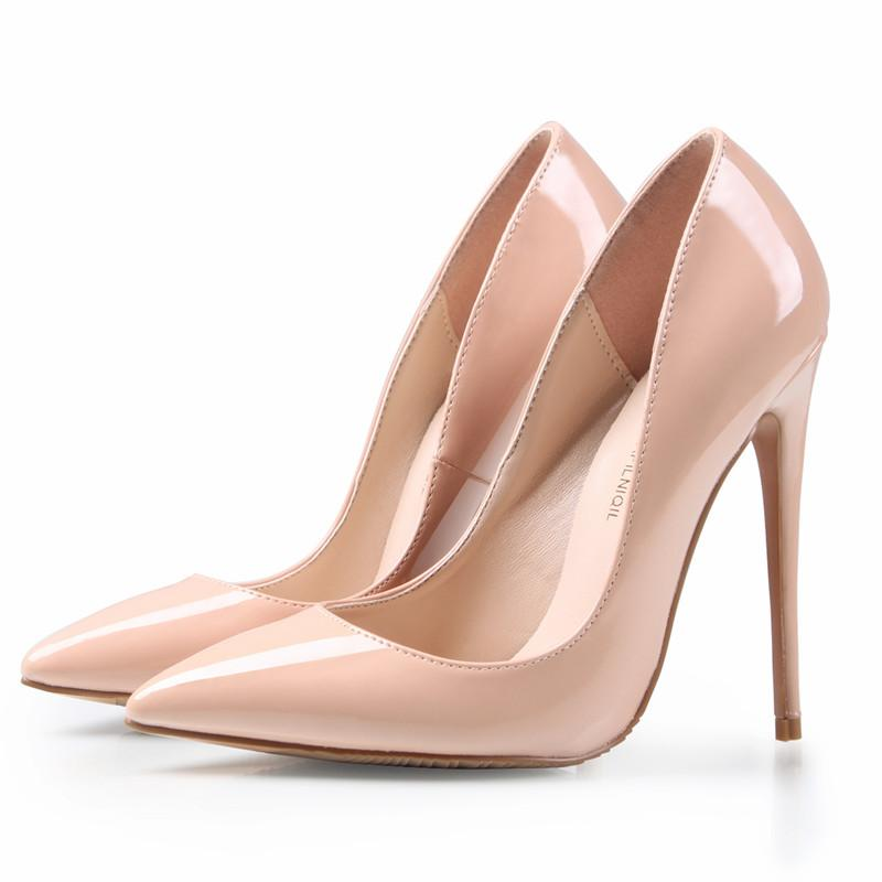 nude shoes ... brand shoes woman high heels pumps nude high heels 12cm women shoes  high CMXFTJK
