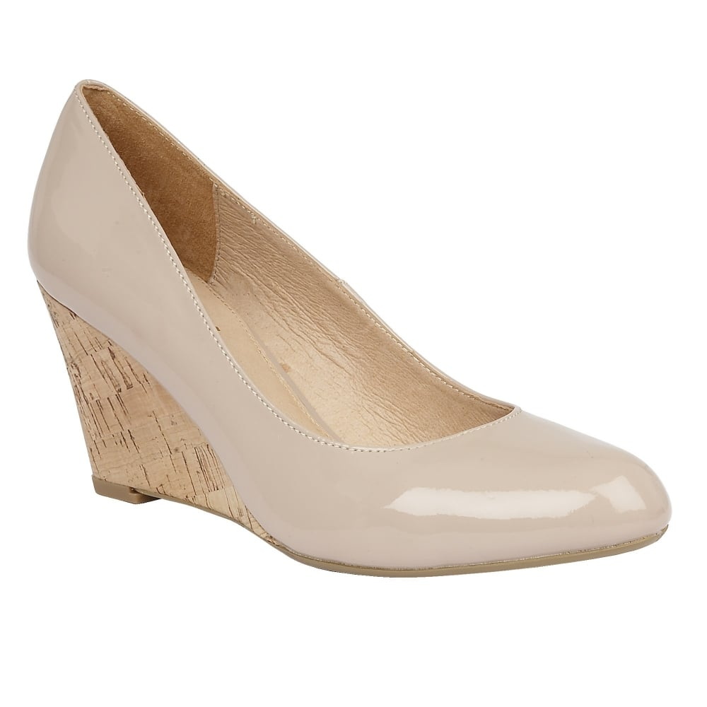 nude shoes nude jelico patent wedge shoes | lotus SDLUUQI