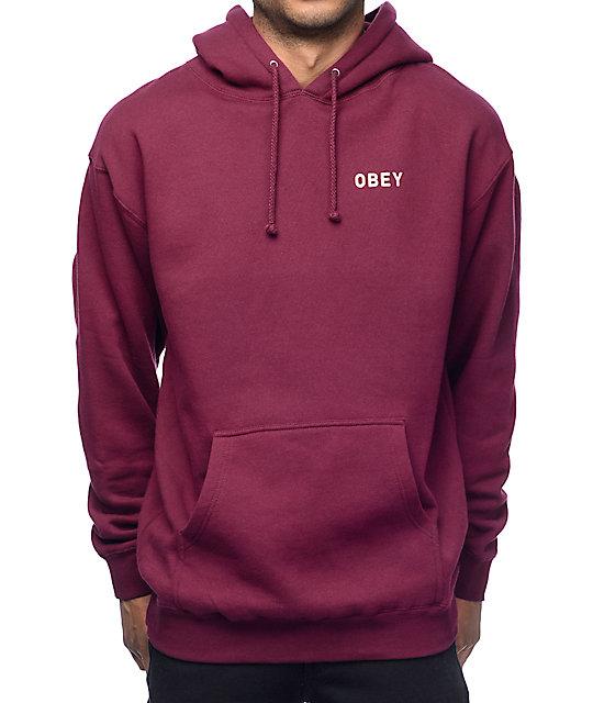 obey afton burgundy hoodie ... WNIGTZU